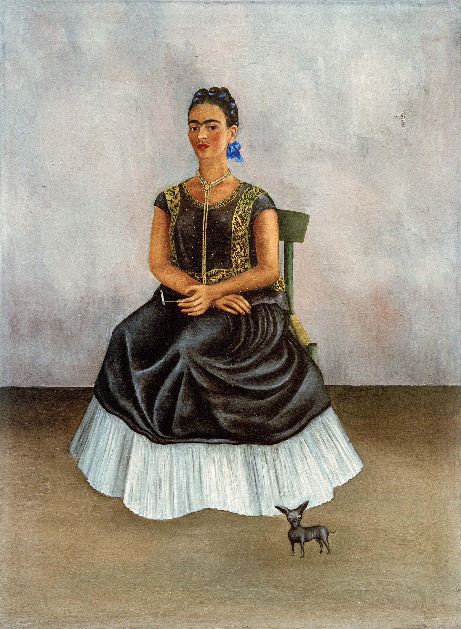 kahlo autoretrato libro perrito