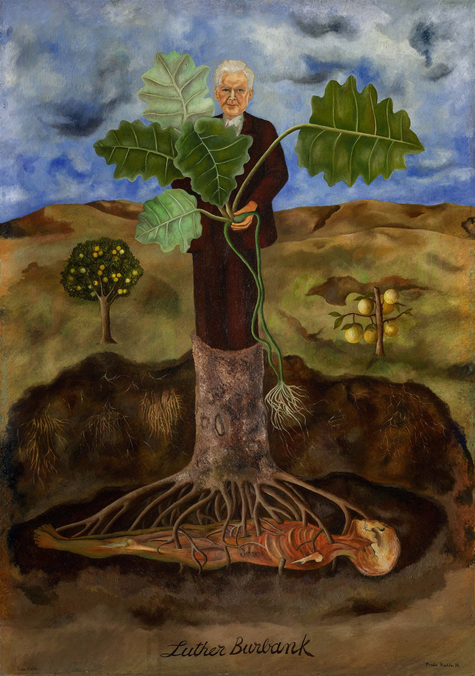 kahlo libro Portrait of Luther Burbank