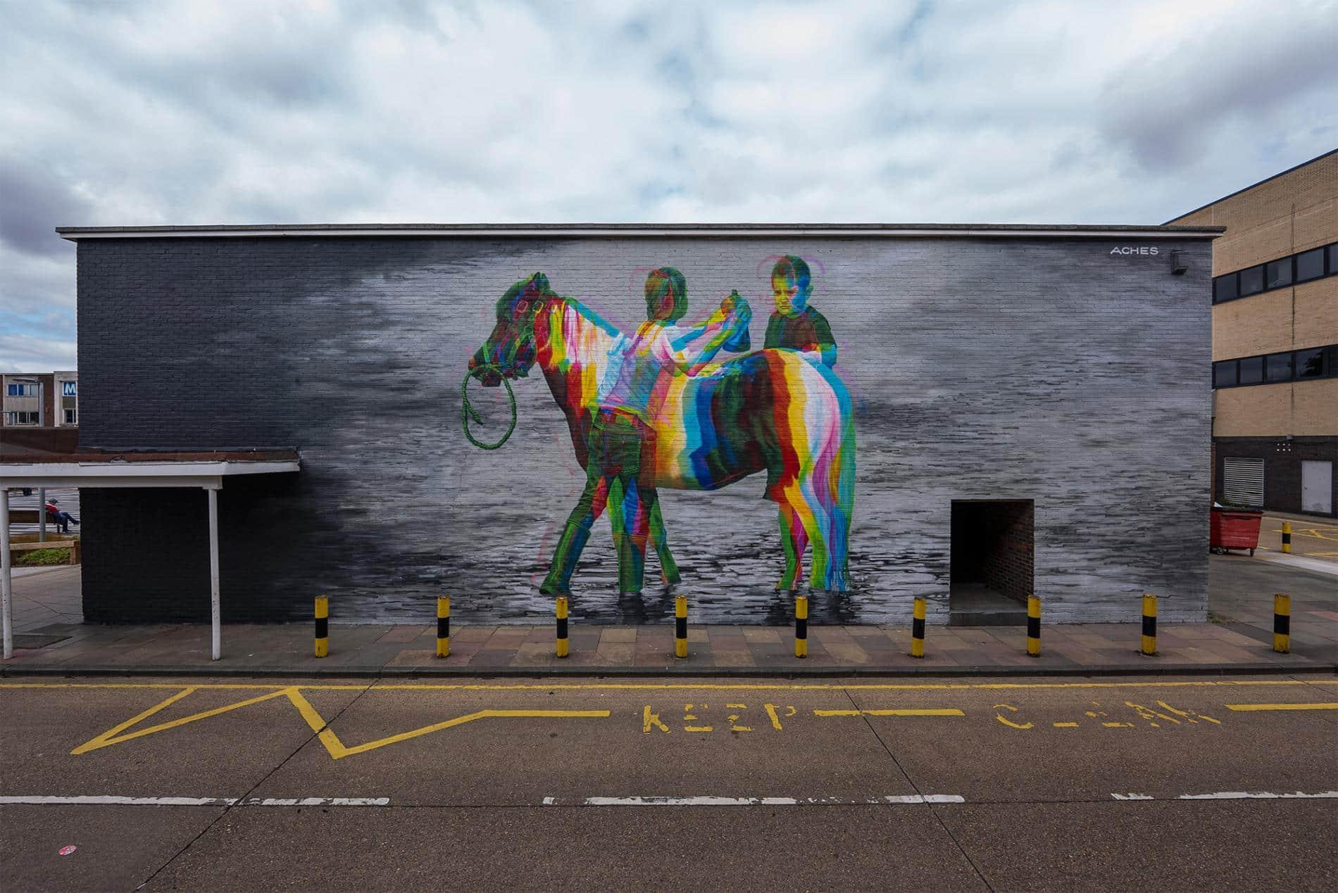 essex murales caballo