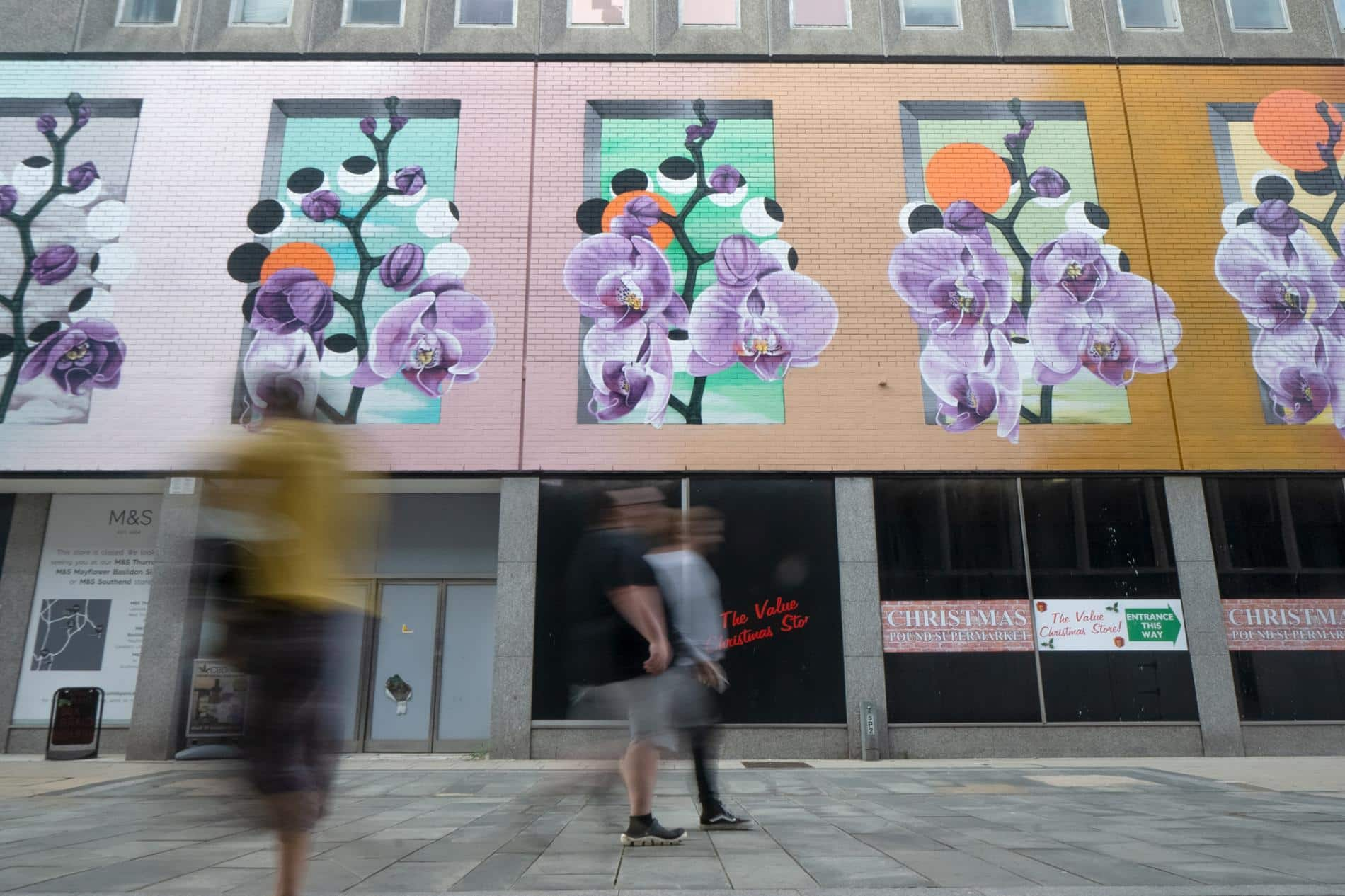 essex murales flores