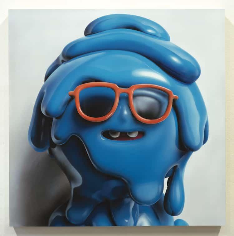 piette realismo plastico hombre azul