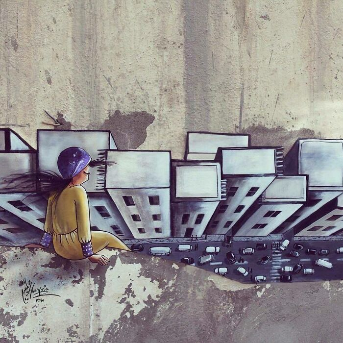 shamsia hassani edificios street art