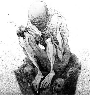 Ilustración de gollum hecha por victo ngai