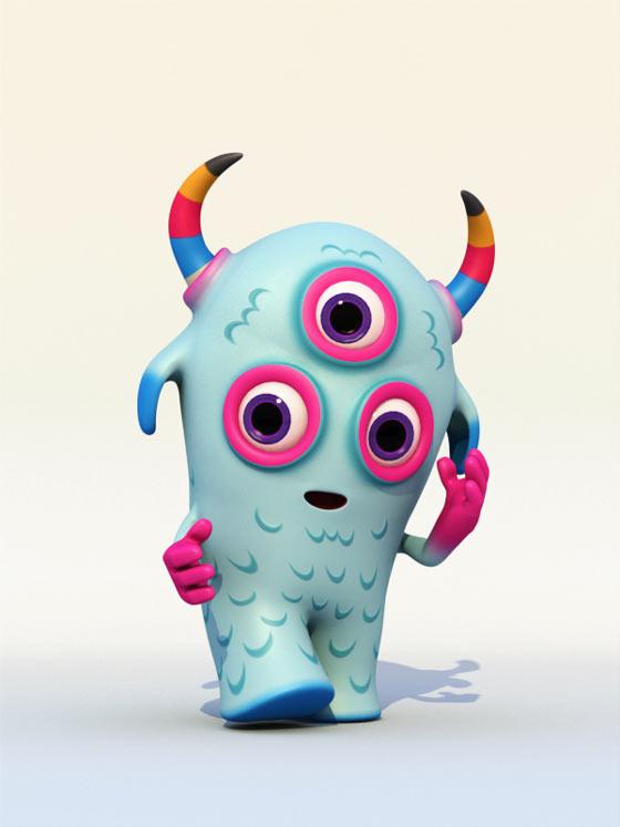 Monstruo diseñado en 3d
