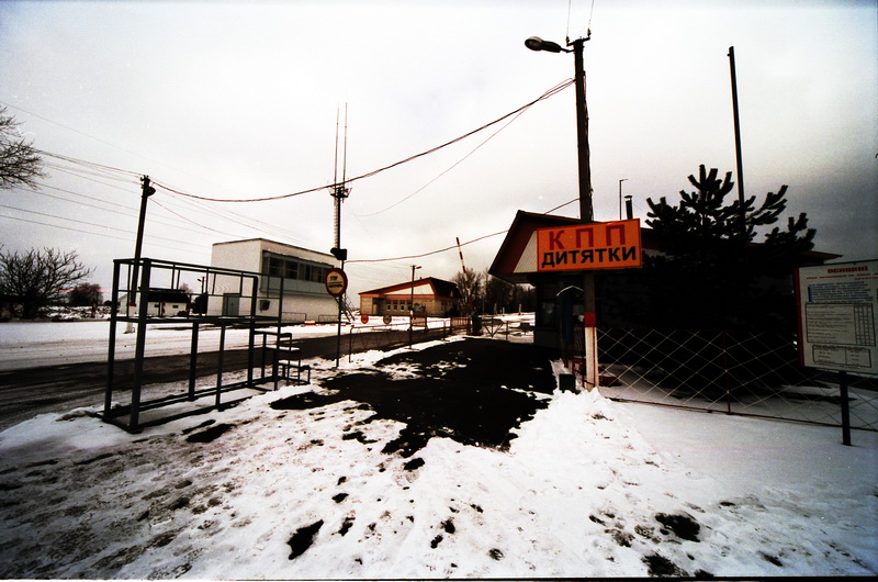 fotografia de chernobil, calles desoladas