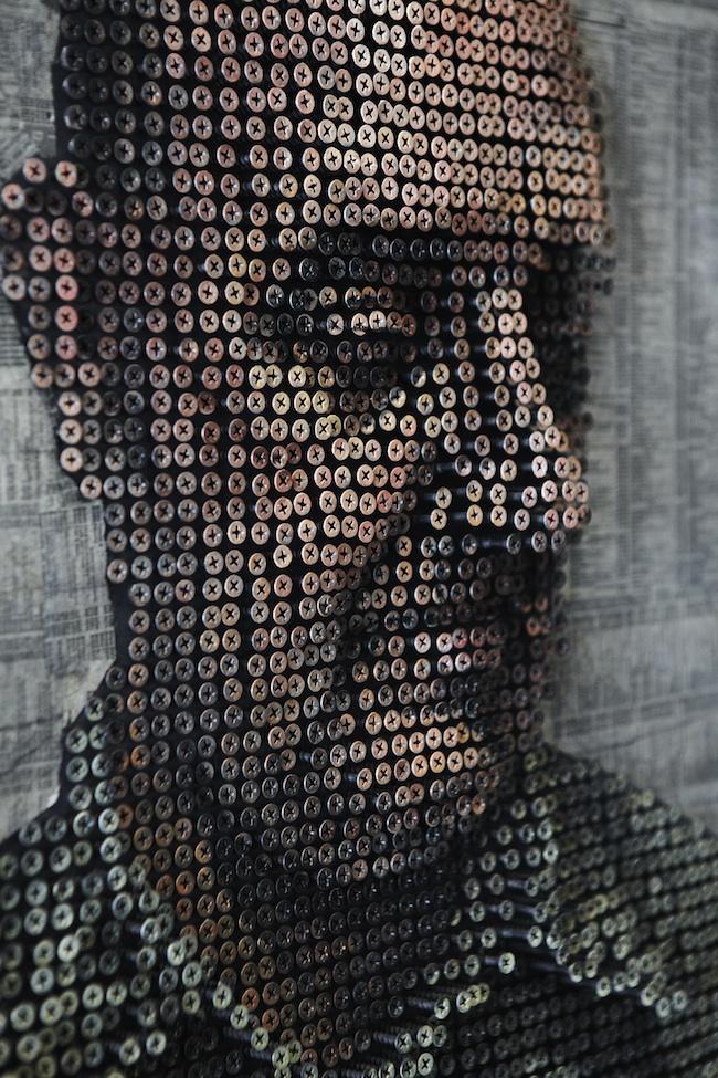 Retratos hehcos con tornilloss