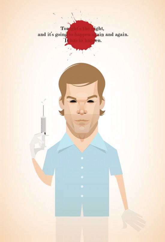 Dexter drawing poster tv serie