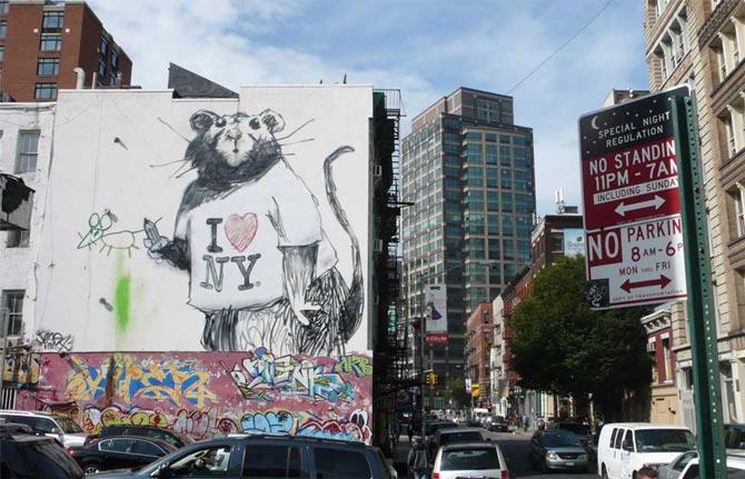 Rata de banksy en new york